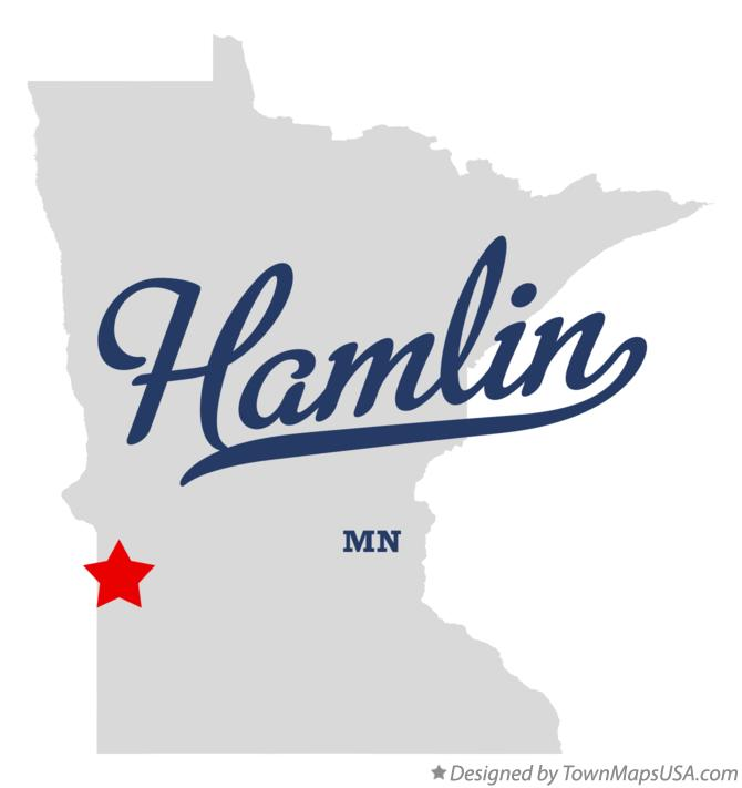 Map of Hamlin Minnesota MN