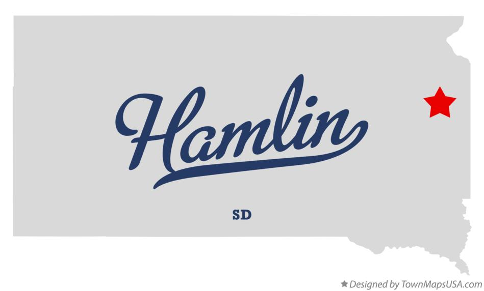 Map of Hamlin South Dakota SD