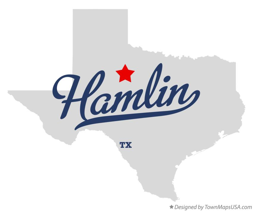 Map of Hamlin Texas TX
