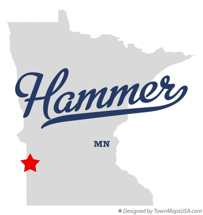 Map of Hammer Minnesota MN