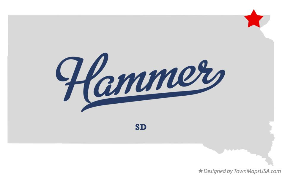 Map of Hammer South Dakota SD
