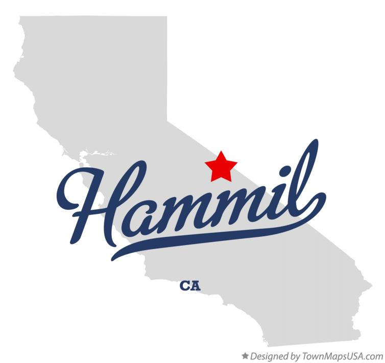 Map of Hammil California CA
