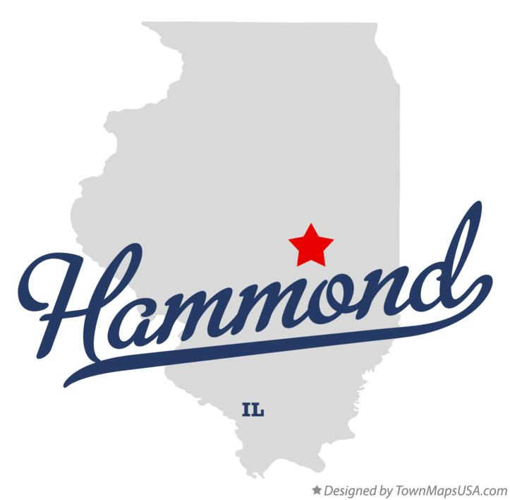 Map of Hammond Illinois IL