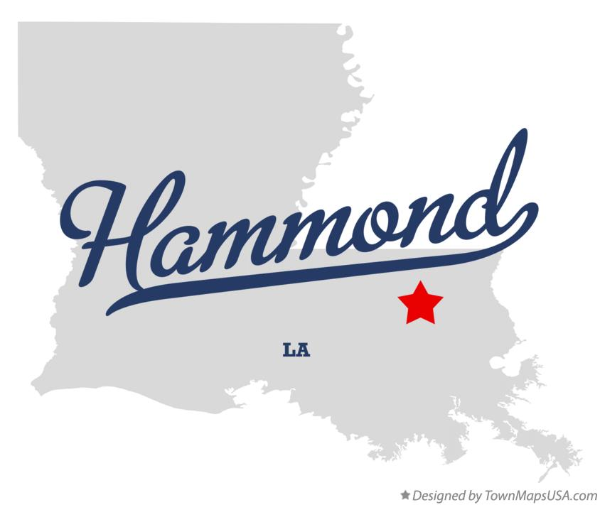 Map of Hammond Louisiana LA