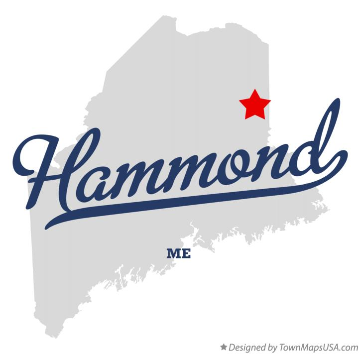 Map of Hammond Maine ME