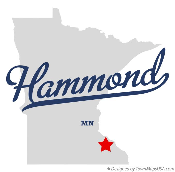 Map of Hammond Minnesota MN