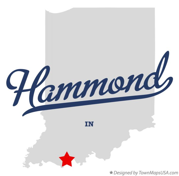 Map of Hammond Indiana IN