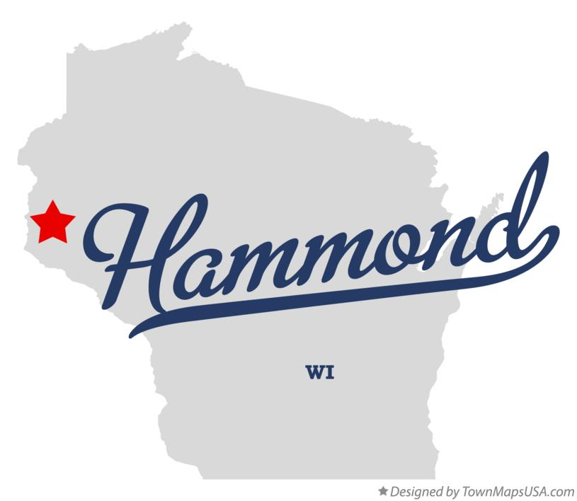 Map of Hammond Wisconsin WI
