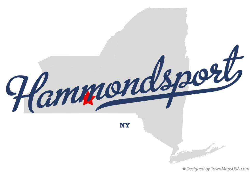 Map of Hammondsport New York NY