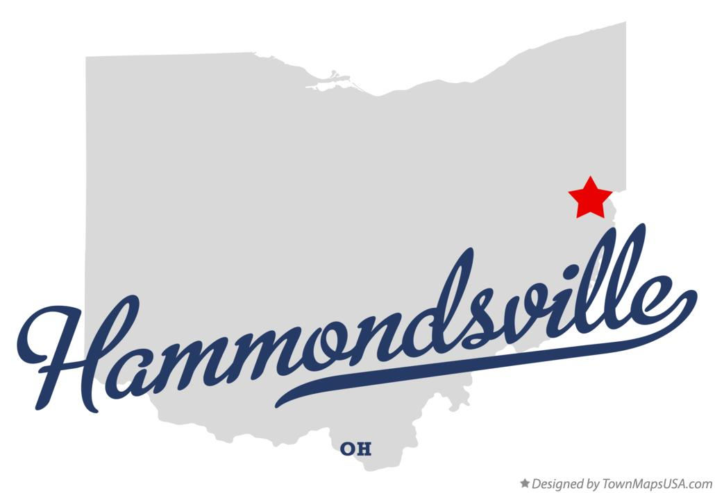 Map of Hammondsville Ohio OH