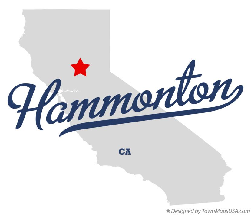 Map of Hammonton California CA