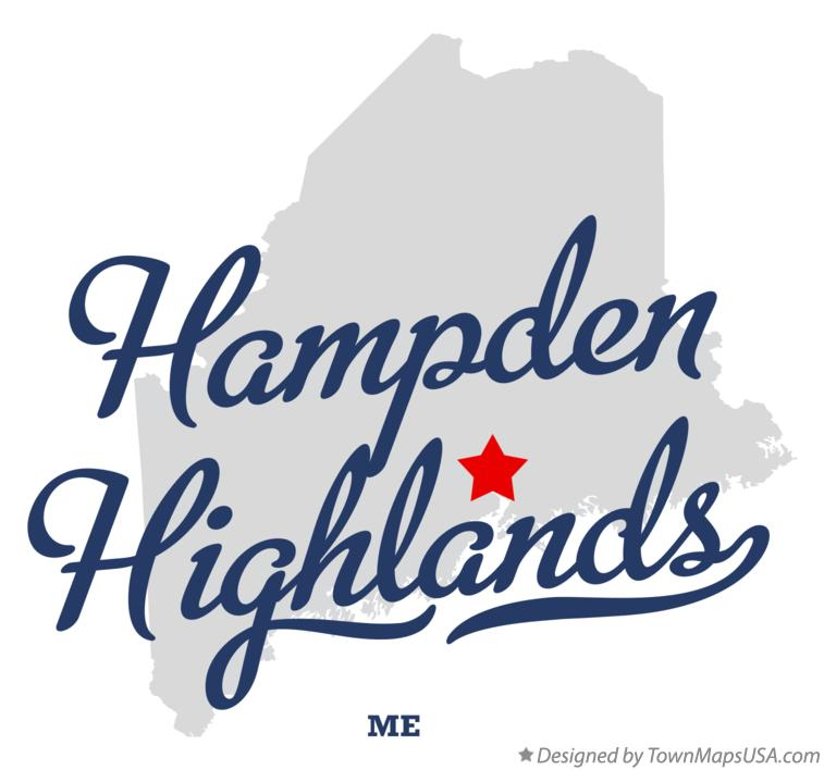 Map of Hampden Highlands Maine ME