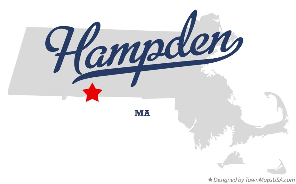 Map of Hampden Massachusetts MA
