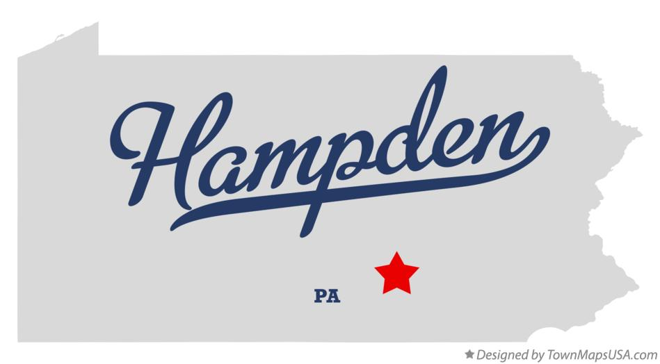 Map of Hampden Pennsylvania PA