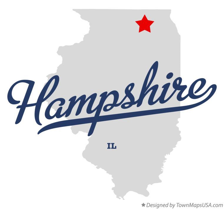 Hampshire Illinois Map.Map Of Hampshire Il Illinois