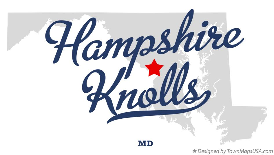 Map of Hampshire Knolls Maryland MD