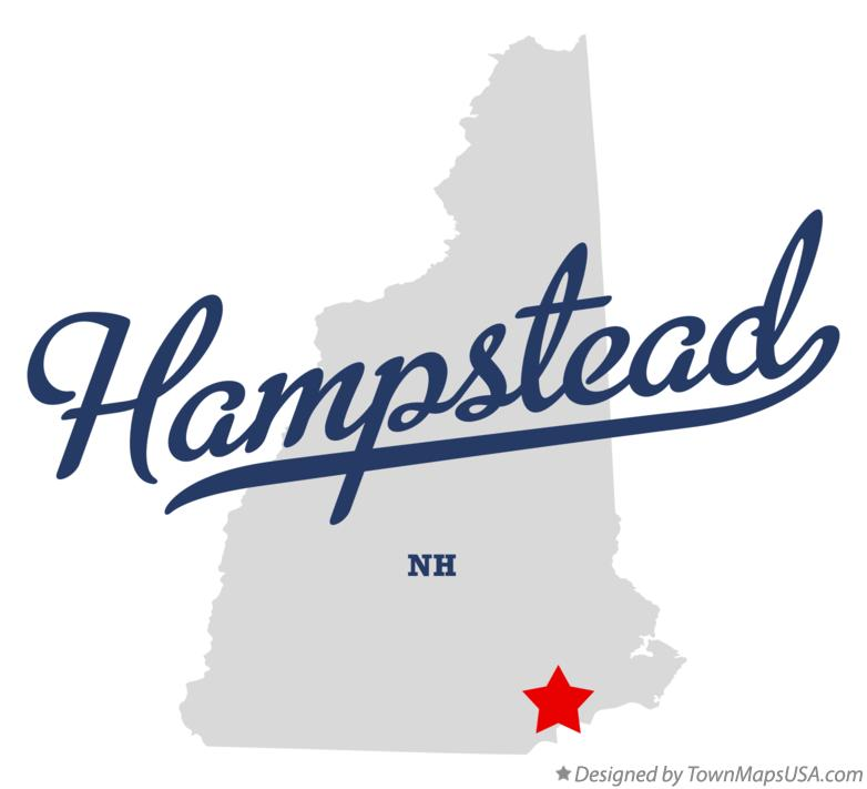Map of Hampstead New Hampshire NH