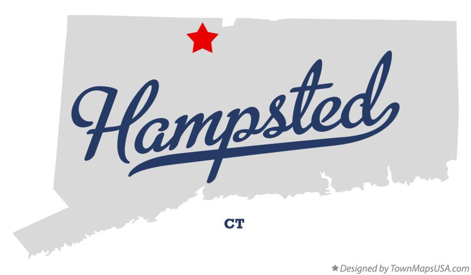 Map of Hampsted Connecticut CT