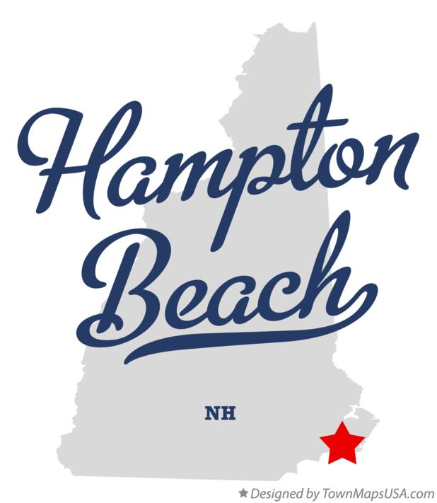 Map of Hampton Beach New Hampshire NH