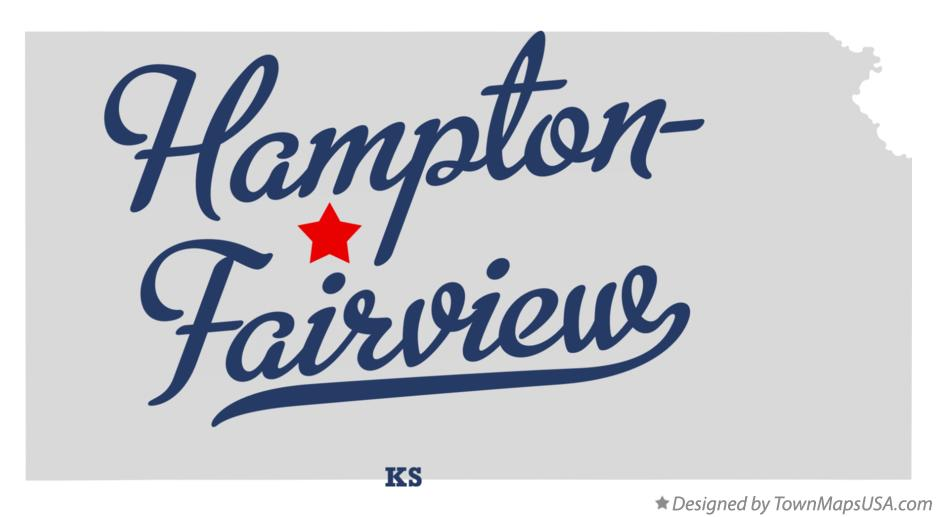 Map of Hampton-Fairview Kansas KS