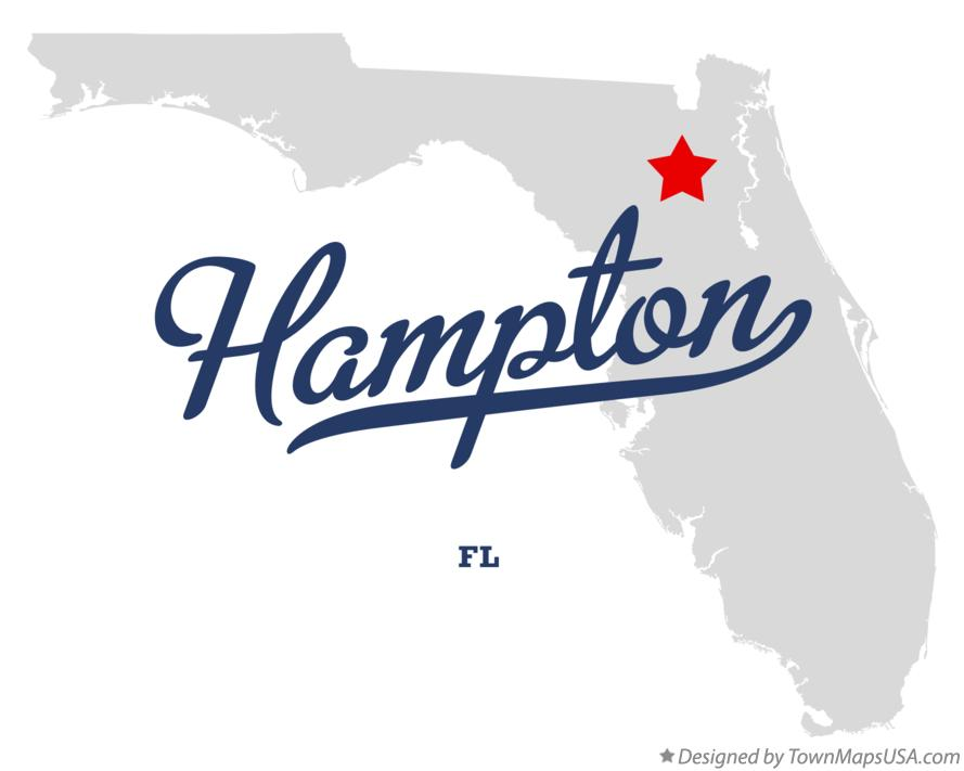 Map of Hampton Florida FL