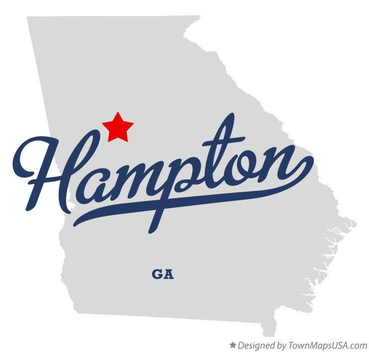 Map of Hampton Georgia GA