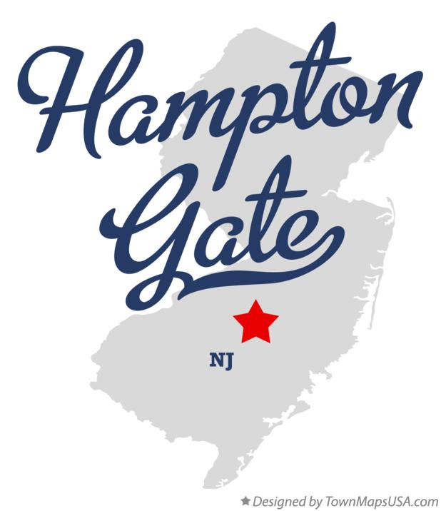 Map of Hampton Gate New Jersey NJ