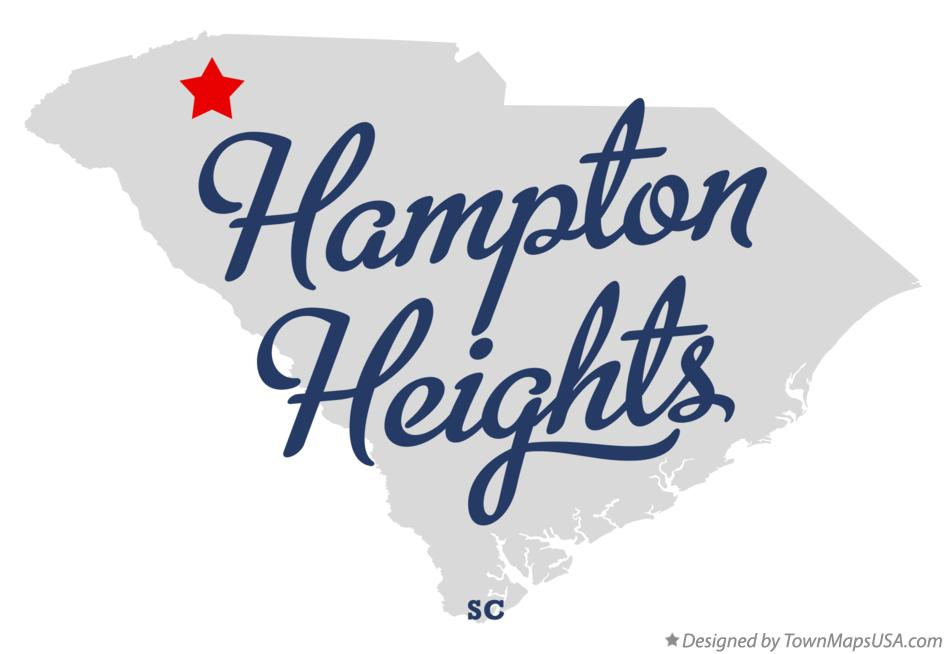 Map of Hampton Heights South Carolina SC