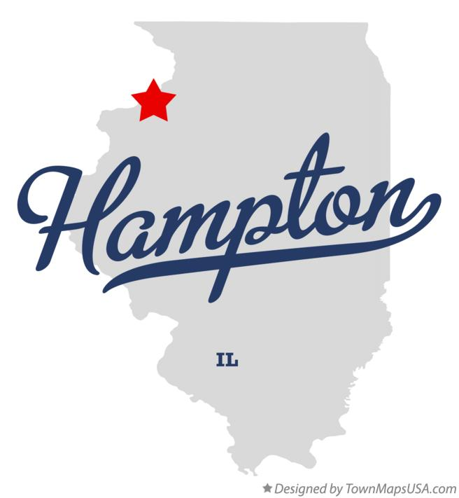Map of Hampton Illinois IL