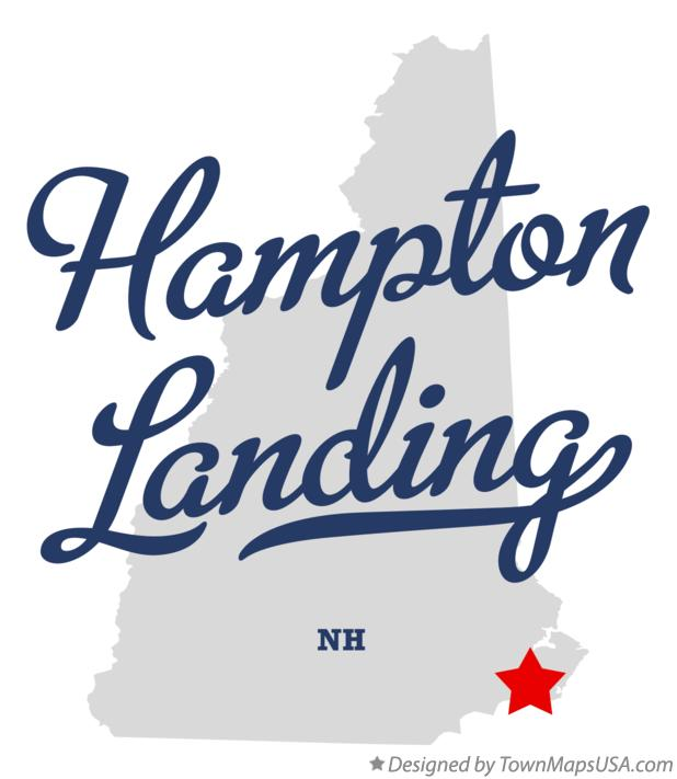 Map of Hampton Landing New Hampshire NH