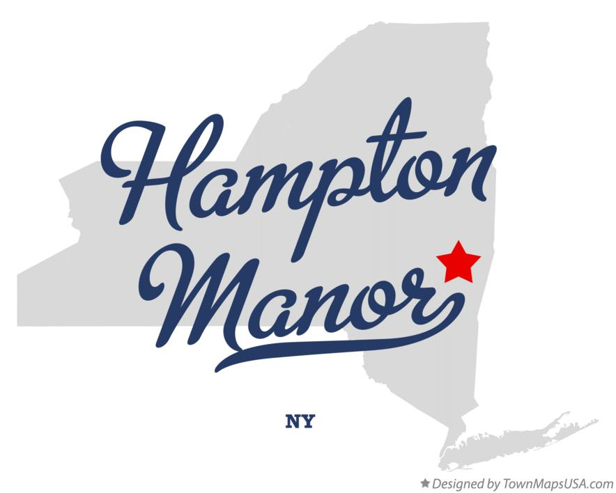 Map of Hampton Manor New York NY