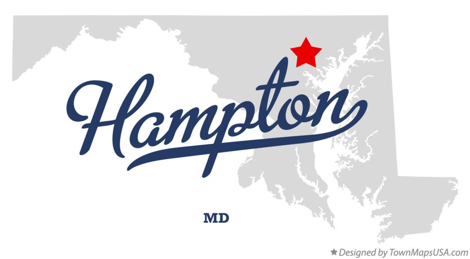 Map of Hampton Maryland MD
