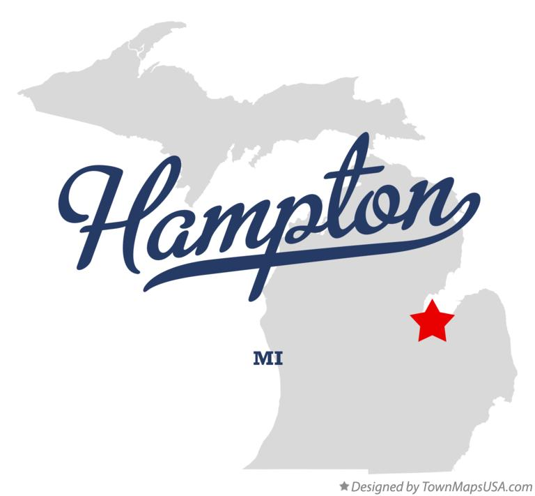 Map of Hampton Michigan MI