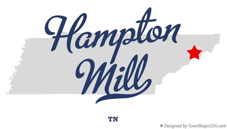 Map of Hampton Mill Tennessee TN