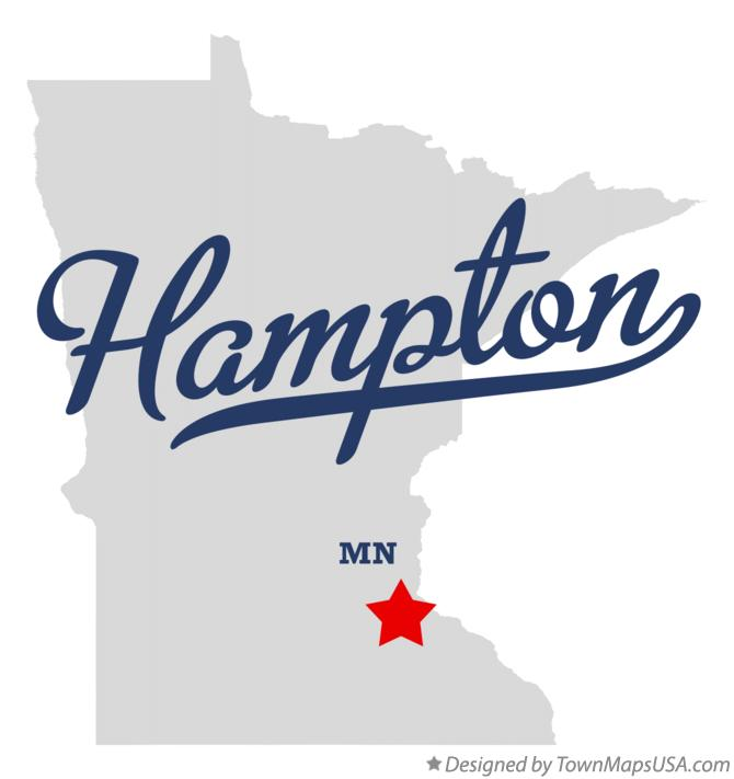 Map of Hampton Minnesota MN