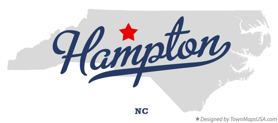 Map of Hampton North Carolina NC