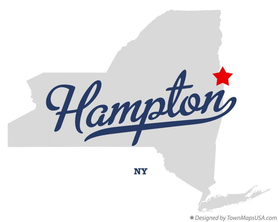 Map of Hampton New York NY