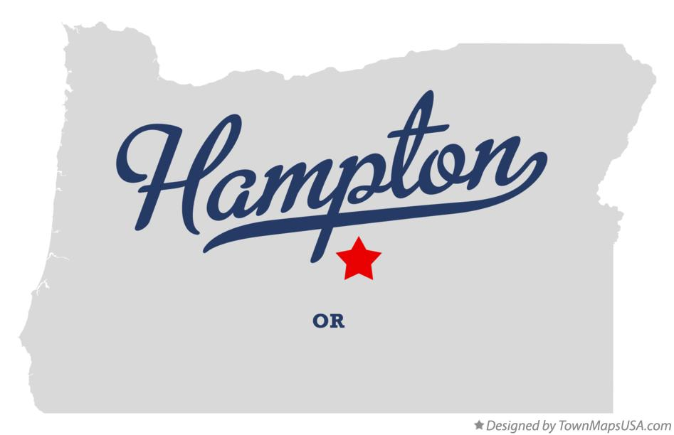 Map of Hampton Oregon OR
