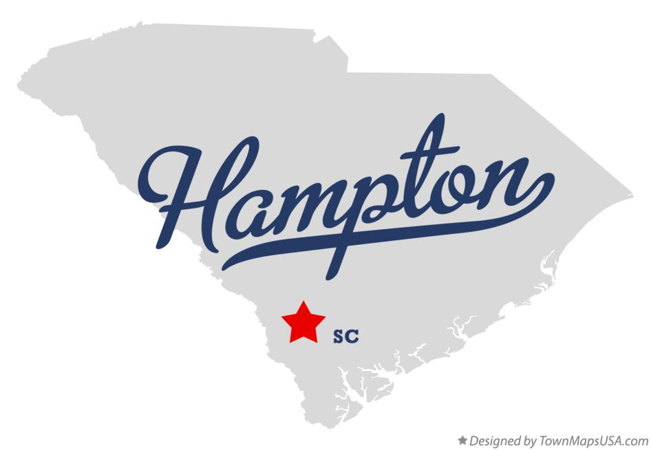 Map of Hampton South Carolina SC