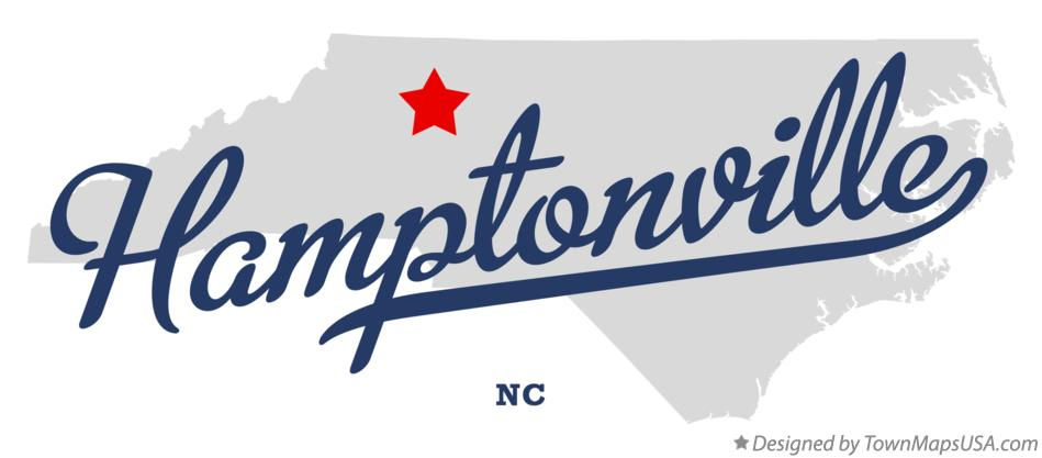 Map of Hamptonville North Carolina NC