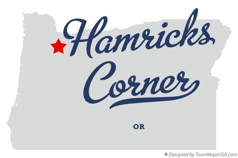 Map of Hamricks Corner Oregon OR