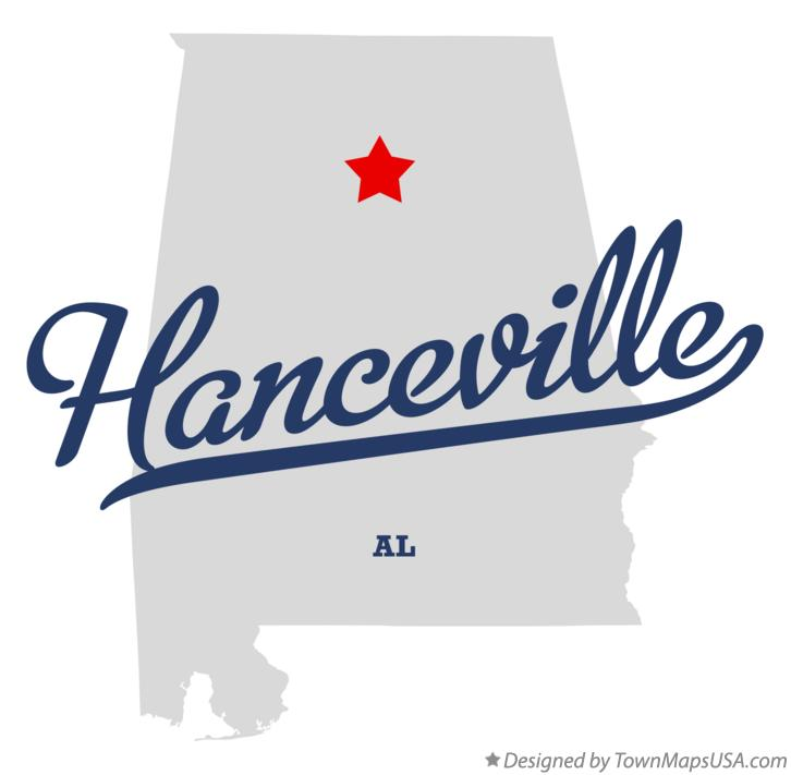 Hanceville (AL) United States  city photos : Map of Hanceville, AL, Alabama