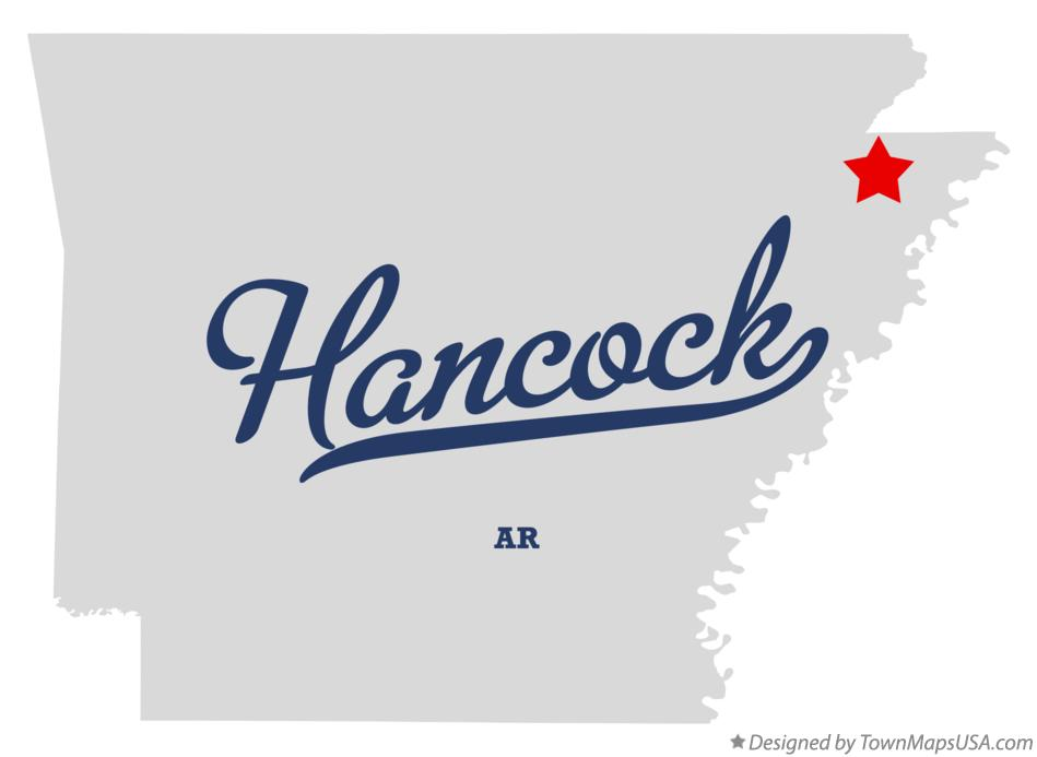 Map of Hancock Arkansas AR