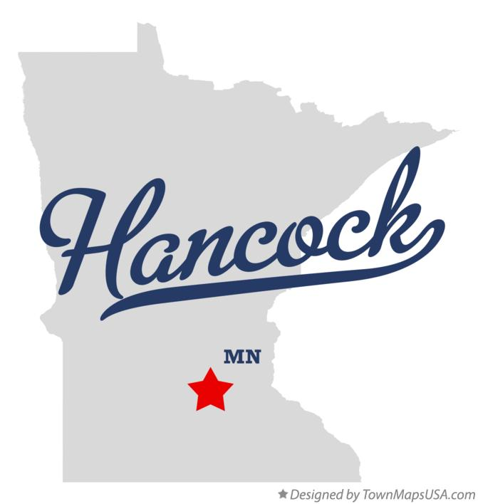 Map of Hancock Minnesota MN