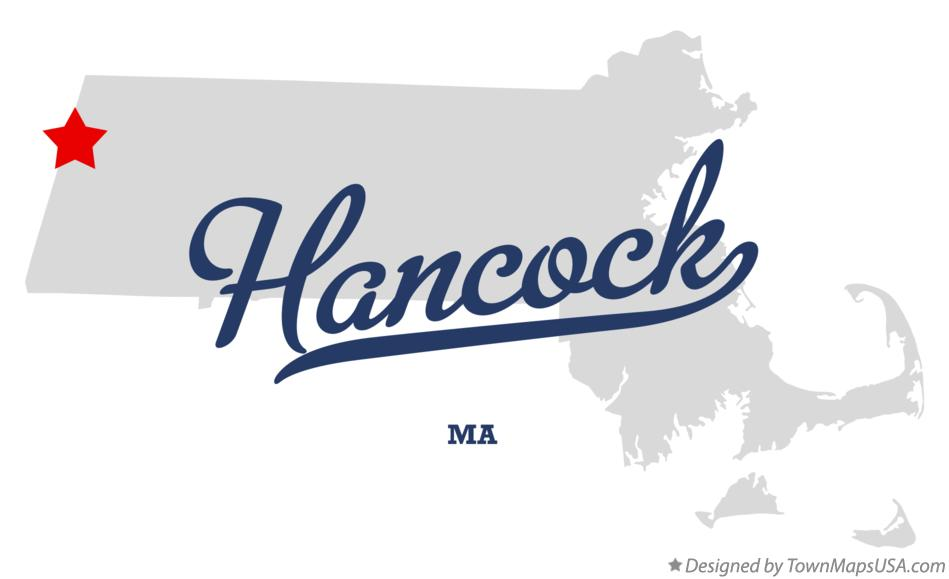 Map of Hancock Massachusetts MA