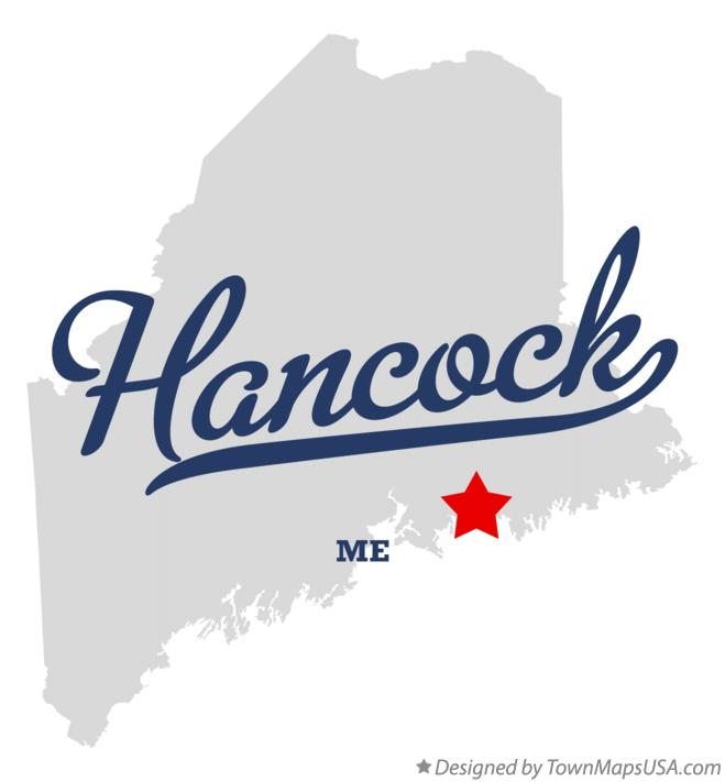 Map of Hancock Maine ME