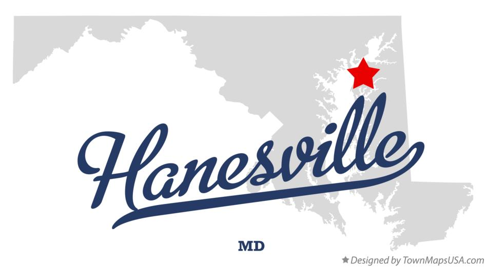 Map of Hanesville Maryland MD