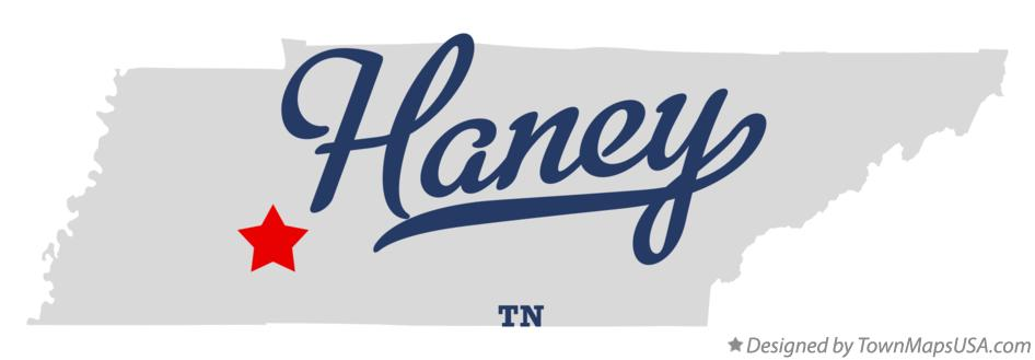 Map of Haney Tennessee TN