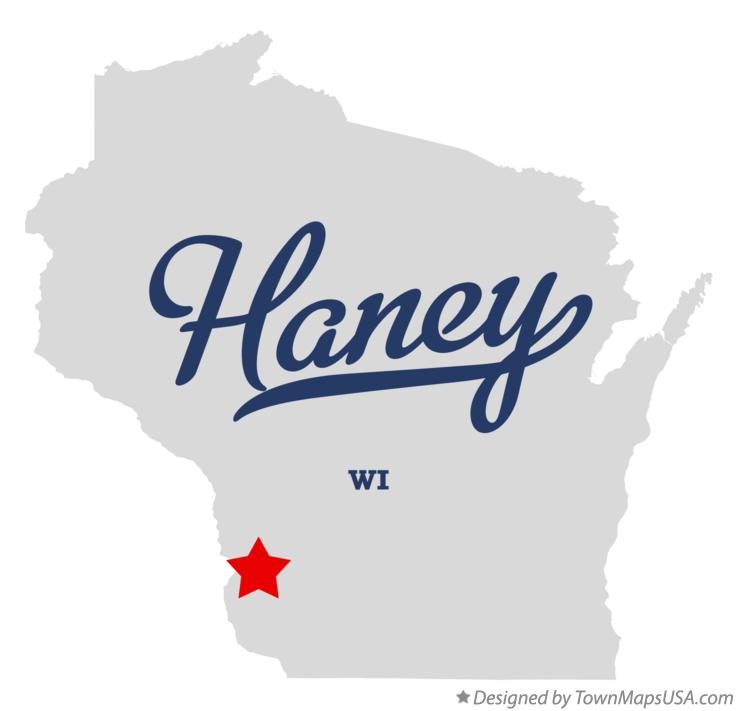 Map of Haney Wisconsin WI