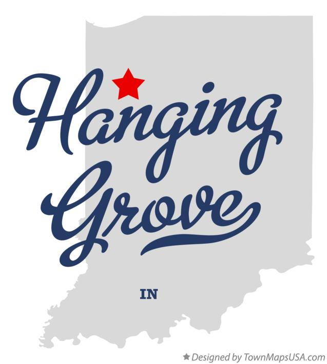 Map of Hanging Grove Indiana IN